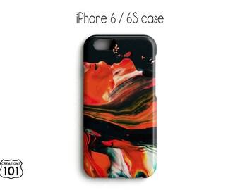 Marble iPhone Case, Plastic iPhone Case, Orange iPhone Case, Black iPhone Case, IPC1025