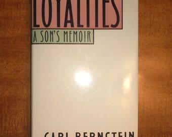 1989 First Edition Carl Bernstein Loyalties Vintage Book