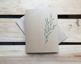 Hand-crafted Custom Herbal Rosemary Blank Stationery