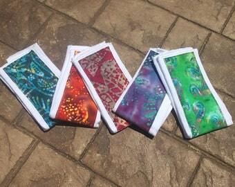 Baby Burp Cloths, Set of 5 Batik/Tie-dyed Prints