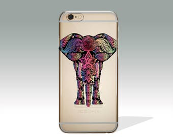 iPhone 7 Case Clear Boho iPhone 6s Case Elephant iPhone 6 Case Clear iPhone 7 Plus Case  iPhone 5/ 5s/ SE Case iPhone 6 Plus Case //153