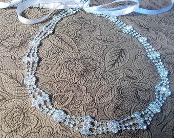 Rhinestone Headband, Bridal crystal headband, Bridal tiara, Wedding headband, wedding headpiece, rhinestone headpiece