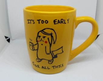 Pikachu in the Morning Mug!