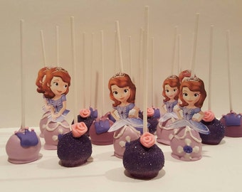 "Cake pops ""Princess Sofia Inspired"" (Order of 13)"