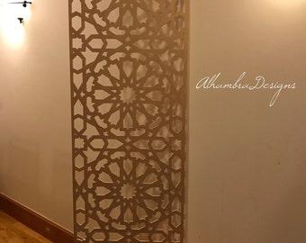 Large Geometric Wooden panel
