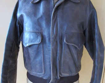 Vintage leather flight jacket smaller size