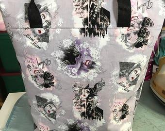 Tote bag, purse, fandom purse, superhero purse, princess purse, villian purse, embroidery purse, customized purse, tote purse