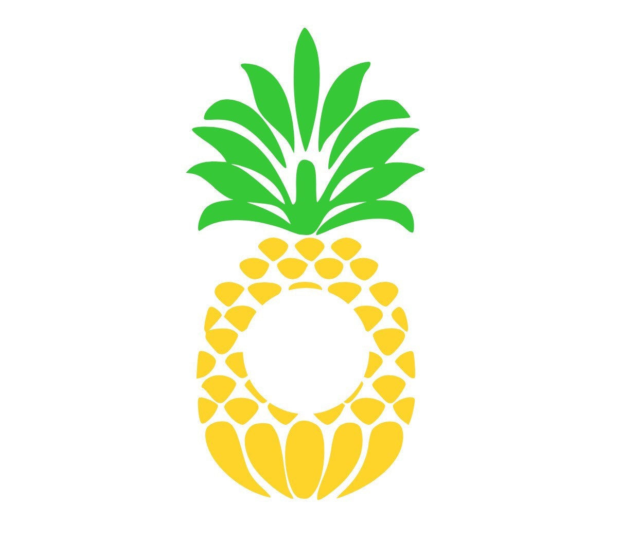 Download Pineapple Monogram Frame SVG Cut File from ...