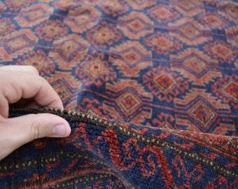 6'8 x 4 Feet Wool Handmade Vintage AFGHAN Tribal Baluch rug Pattern 7 bala Rug Vintage rug Antique rug Persian rug old Baluch rug, Boho rug