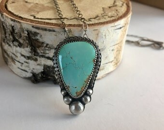 Royston Turquoise // Sterling Silver Necklace