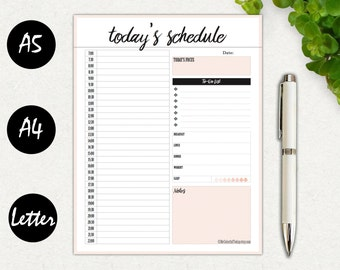 hourly daily planner printable