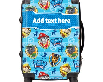 """Exclusive """"Wallpaper"""" Paw Patrol Personalised Child Suitcase  'Add your name' on our suitcases for that extra touch, perfect for a gift"""