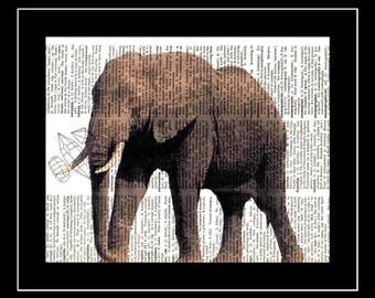 307 Elephant Vintage Picture Print