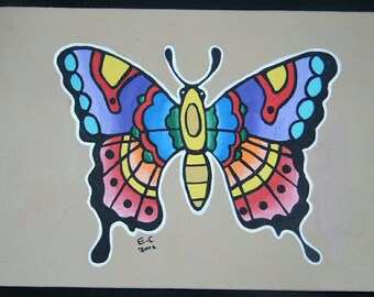 Traditional butterfly painting
