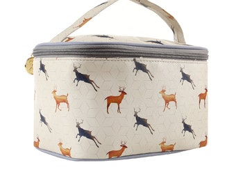 TaylorHe Vanity Bag Make-up Bag Toiletry Bag With Handle Magnificent Stags.