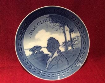 Royal Copenhagen Porcelain Plate Adam Oehlenschlager 18cm diameter