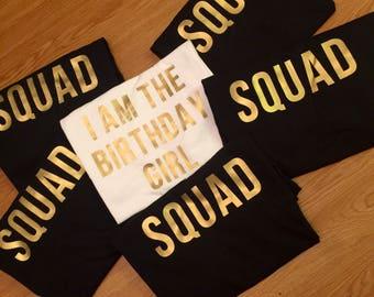 Birthday Girl Squad Shirts