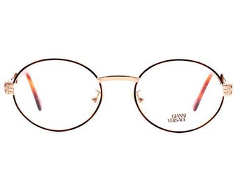 Made In Italy Vintage Round VERSACE G67 07M Tortoise Gold Vintage Eyeglasses
