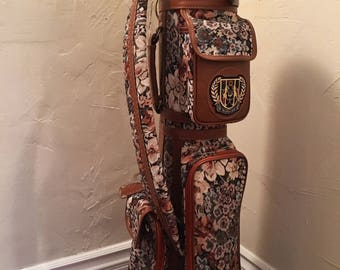 Vintage Floral Women's MacGregor Golf Bag