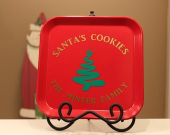 Santa's Cookies // Cookie Plate // Family Plate // Holiday Plate