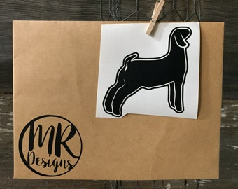 Goat Decal Etsy