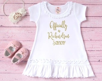 Gotcha Day dress - Adoption day outfit - Adoption Gift - New last name shirt - Personalized adoption shirt - Court day outfit