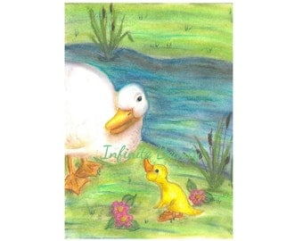 "Greeting Card ""Ducks"""