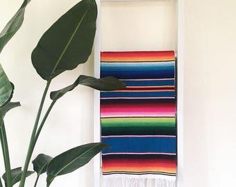 SALE* Mexican Blanket Serape - Teal
