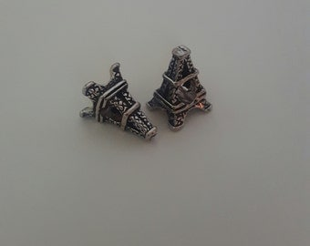 Eiffel Tower (1Pc) Spacer/European Bead for Snake Bracelets. Fits all Designer and European Charm Bracelets
