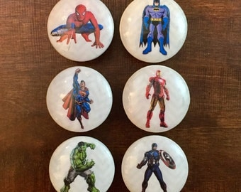 1.5 Inch,superhero Knob,cabinet Knobs, Drawer Pulls, EACH KNOB Sold  Separately