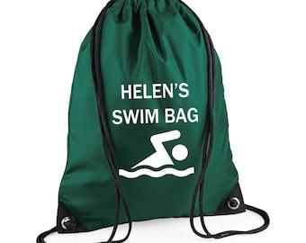 Personalised Gym Bags, Gym Sac, Custom Printed Drawstring Bag, Name Bag, Sports Bag, Shoe Bag, PE Bag, Water Resistant Bag,