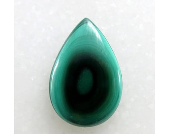 100% Natural Malachite 17X25X3mm Pear Shape Loose Gemstone Cabochon Handmade Gemstone For Jewellery Making 14Cts B-10615