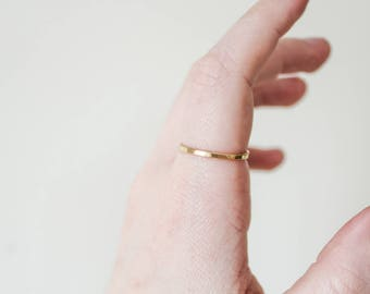 Thick Gold Band, Gold Band Ring, Gold Ring, 1.6mm Band, 1.6mm Ring, Minimalist Ring, Gold Stackable Ring, Gold Stacking Ring, Stacking Ring