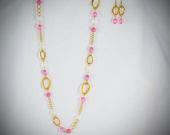 Pinks, Clear and Gold - PK25