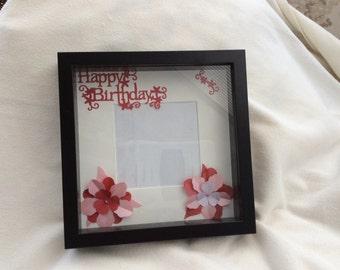 Happy birthday box frame