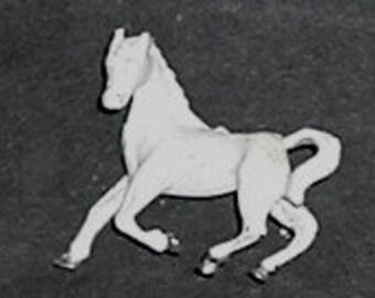 WHITE HORSE Pin Back (New)