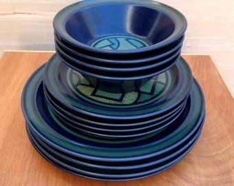 Vintage Dishes, Noritake Primastone, Vintage Noritake Primastone, Bay Roc Style, Retro Ceramics, Mid-Century, Japan, Vintage Stoneware