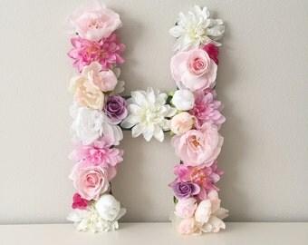 Items Similar To Wedding Silk Flower Letter Floral Church