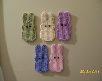 Easter Peep Magnets Pastel Colors
