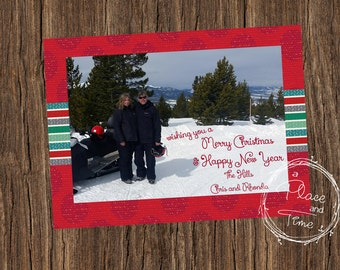 Red Sweater Christmas Post Card