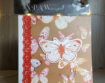 Butterfly blank greetings card