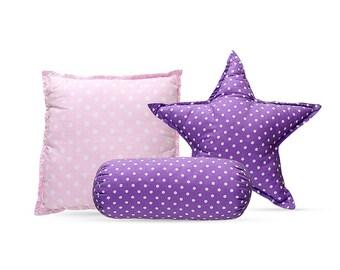 Pillow Set - Violet Dots
