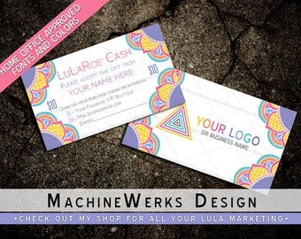 LuLaCash Business Card • Home Office Approved Fonts and Colors • LuLaCash LuLaMoolah LuLaBucks • LuLa Marketing Materials Roe • MachineWerks