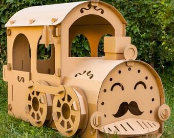 Cardboard locomotive