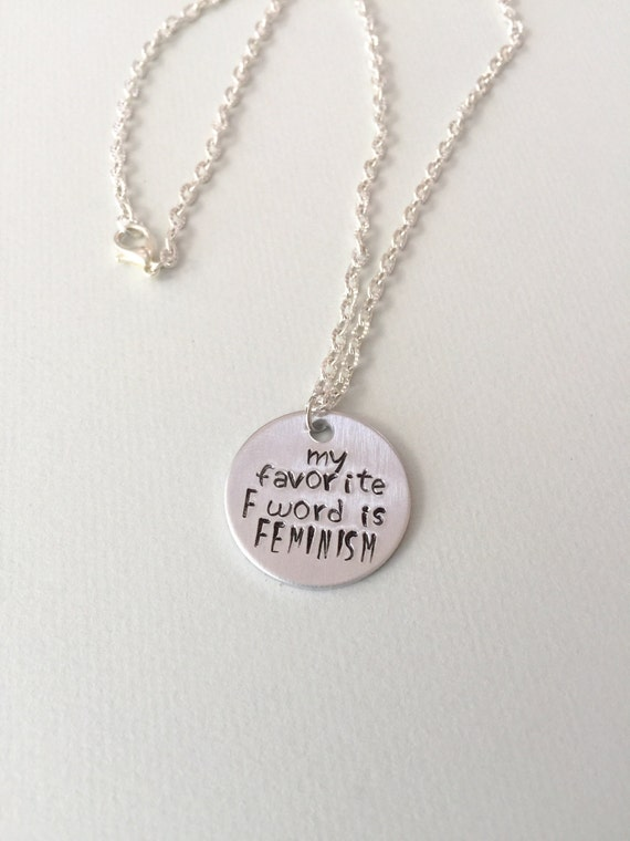 My Favorite F Word is Feminism Necklace | Feminist Gift Guide