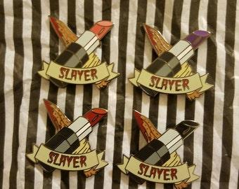 1.5 inch slayer hard enamel pin