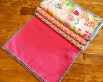 Reusable Baby Wipes, Cloth Wipes, Wash Clothes- 3 Dozen bundles 36 total!