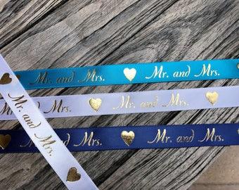 Mr and Mrs Wedding Ribbon 10 yards