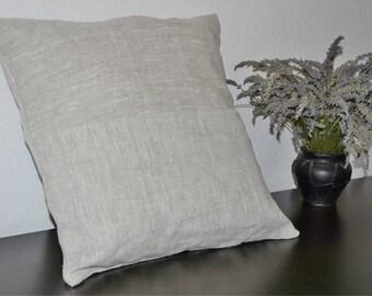 Decorative Pillow, Throw Pillow, Linen Pillow, Euro Sham, Minimalist Pillow, Rustic Pillow, Gray Pillow, Pillow Sham, Housewarming Gift