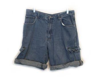 Bugle Boy Jean / Denim Shorts - Size 36 - Vintage 1990s